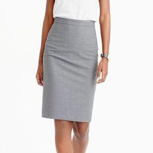 J. Crew no2 gray pencil skirt